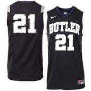 Mens Nike No. 21 Black Butler Bulldogs Replica Master Jersey
