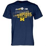 Men's Navy Michigan Wolverines 2015 Big Ten Men's Baseball Tournament Champions Locker Room T-Shirt