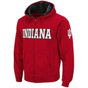 Indiana Hoosiers Straight Name Full Zip Hooded Sweatshirt