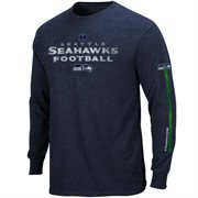 Seattle Seahawks Gridiron Tough IV Long Sleeve T-Shirt - Dark College Navy
