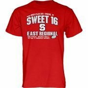 Men's Red NC State Wolfpack 2015 NCAA Men's Basketball Tournament Sweet 16 T-Shirt
