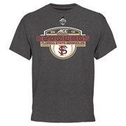 Men's Heather Black Florida State Seminoles 2015 ACC Men's Baseball Tournament Champions Locker Room T-Shirt