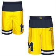 Men's adidas Maize Michigan Wolverines 2015 March Madness Replica Basketball Shorts
