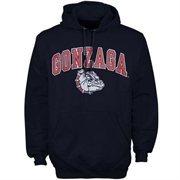 Mens Navy Gonzaga Bulldogs Arch Over Logo Hoodie