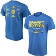 Men's True Blue UCLA Bruins 2015 NCAA Men's Basketball Tournament Sweet 16 Bracket T-Shirt
