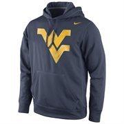 West Virginia Mountaineers Nike Warp Logo Therma-FIT Hoodie - Blue