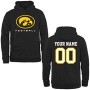 Iowa Hawkeyes Personalized Football Pullover Hoodie - Black