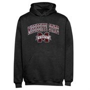 Mens Dark Gray Mississippi State Bulldogs Arch Over Logo Hoodie