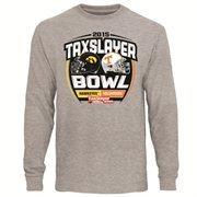 Mens Iowa Hawkeyes vs. Tennessee Volunteers Ash 2015 TaxSlayer Bowl Dueling Long Sleeve T-Shirt