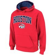 Houston Cougars Red Twill Tailgate Hooded Sweatshirt