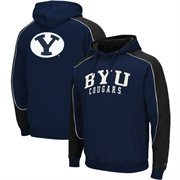 BYU Cougars Thriller Pullover Hoodie - Navy Blue