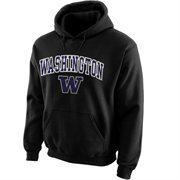 Washington Huskies Midsize Arch Pullover Hoodie - Black