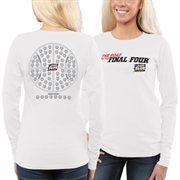 Women's  White 2015 NCAA Men's Basketball Tournament 68 Team Ball Long Sleeve T-Shirt