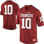 Nike Oklahoma Sooners #10 Game Football Jersey - Crimson