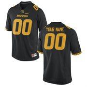 Missouri Tigers Nike Team Color Custom Game Jersey - Black