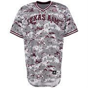 Men's adidas Camo Texas A&M Aggies Military Appreciation Authentic Baseball Jersey