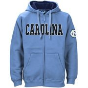 North Carolina Tar Heels (UNC) Carolina Blue Classic Twill Full Zip Hoodie Sweatshirt