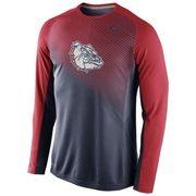 Mens Gonzaga Bulldogs Nike Navy Blue 2014-2015 Fearless Shootaround Long Sleeve Dri-Fit Shirt