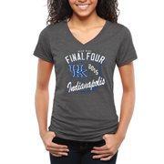 Women's Charcoal Kentucky Wildcats 2015 NCAA Men's Basketball Tournament Final Four Bound Hoops Tri-Blend V-Neck T-Shirt