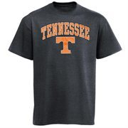 Mens Charcoal Tennessee Volunteers Arch Over Logo T-Shirt
