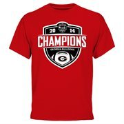 Men's Red Georgia Bulldogs 2014 Belk Bowl Champions T-Shirt
