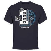 Men's Navy Blue Villanova Wildcats 2015 NCAA Men's Basketball Tournament #1 Seed T-Shirt