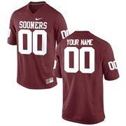 Men's Oklahoma Sooners Nike Crimson Team Color Custom Game Jersey