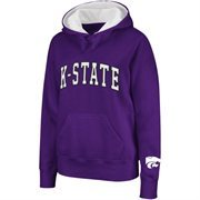 Kansas State Wildcats Women's Arched Name Hoodie - Purple