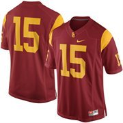 Mens USC Trojans Nike Cardinal No. 15 Limited Football Jersey
