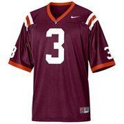 Nike Virginia Tech Hokies #3 Youth Replica Football Jersey - Maroon