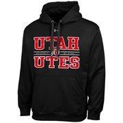 Mens Utah Utes Under Armour Black Performance Hoodie