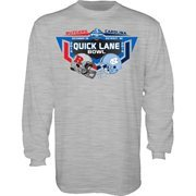 Mens Rutgers Scarlet Knights vs. North Carolina Tar Heels Gray 2014 Quick Lane Bowl Dueling Long Sleeve T-Shirt