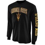 Mens Arizona State Sun Devils Black Arch & Logo Long Sleeve T-Shirt