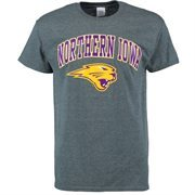 Men's Dark Gray Northern Iowa Panthers Mid-Size Arch Over Logo T-Shirt