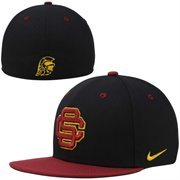 Nike USC Trojans True Colors Authentic Performance Fitted Hat - Black/Cardinal