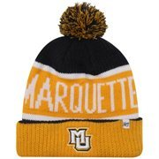 '47 Brand Marquette Golden Eagles Calgary Knit Cuffed Beanie - Navy Blue/Gold