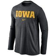 Iowa Hawkeyes Nike Wordmark Long Sleeve T-Shirt - Black