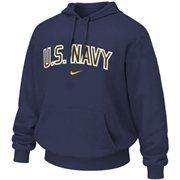 Mens Navy Midshipmen Nike Navy Blue Military Classic Cotton Hoodie