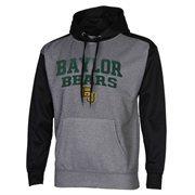 Mens Baylor Bears Gray/Black Fast Slant Raglan Performance Hoodie