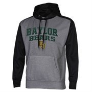 Mens Baylor Bears Gray/Black Fast Slant Raglan Performance Hoodie