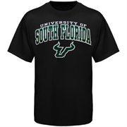 Mens Black South Florida Bulls Arch Over Logo T-Shirt