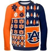 Auburn Tigers Orange Busy Block Ugly Sweater