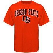 Mens Orange Oregon State Beavers Arch Over Logo T-Shirt