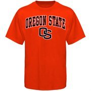 Mens Orange Oregon State Beavers Arch Over Logo T-Shirt