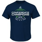 Mens Majestic Seattle Seahawks College Navy 2014 NFC Champions Choice VII T-Shirt