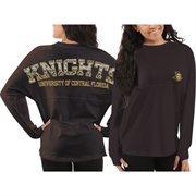 Women's UCF Knights Gray Aztec Sweeper Long Sleeve Top
