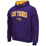 Mens LSU Tigers Purple Arch & Logo Pullover Hoodie