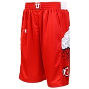 Utah Utes Under Armour Red Performance Replica Basketball Shorts