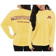Women's Minnesota Golden Gophers Yellow Aztec Sweeper Long Sleeve Top