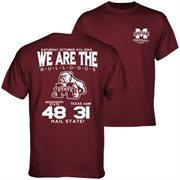 Men's Mississippi State Bulldogs vs. Texas A&M Aggies Maroon 2014 Score T-Shirt